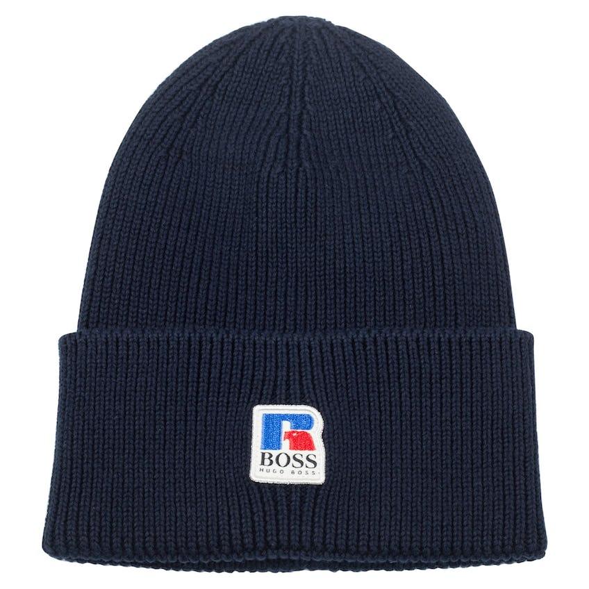 x Russell Athletic Fussel Knit Cap Dark Blue