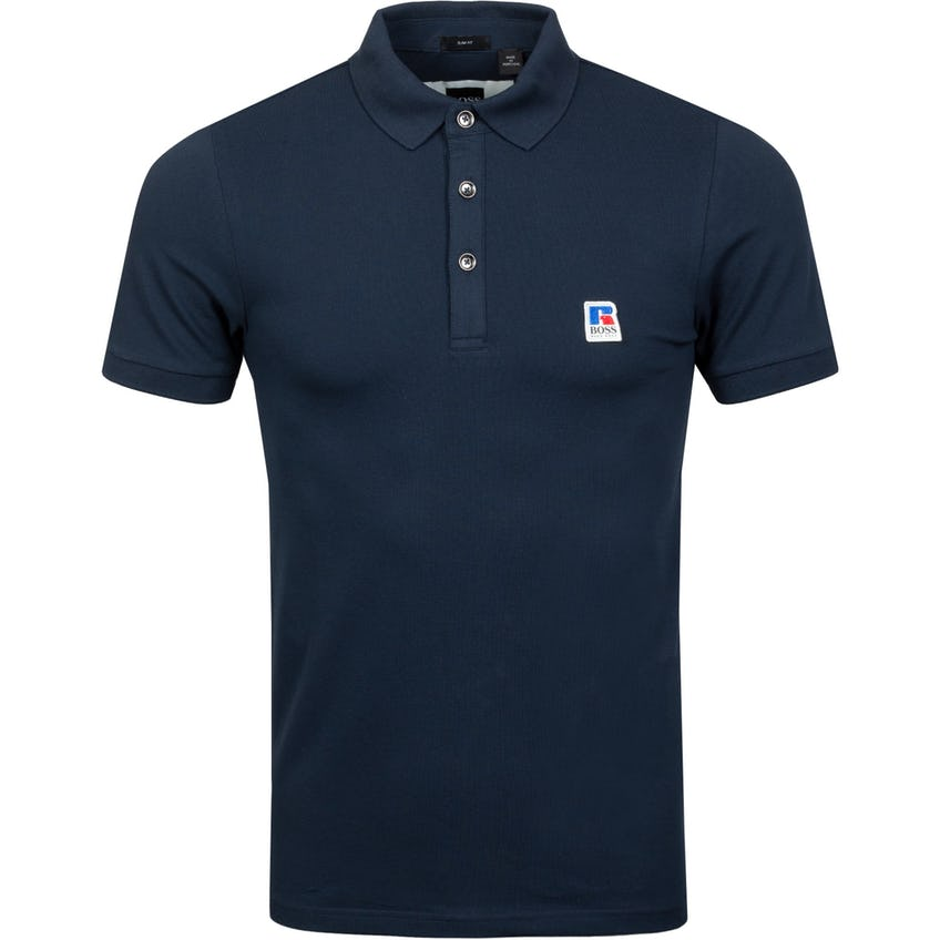 x Russell Athletic Petroc Polo Shirt Dark Blue
