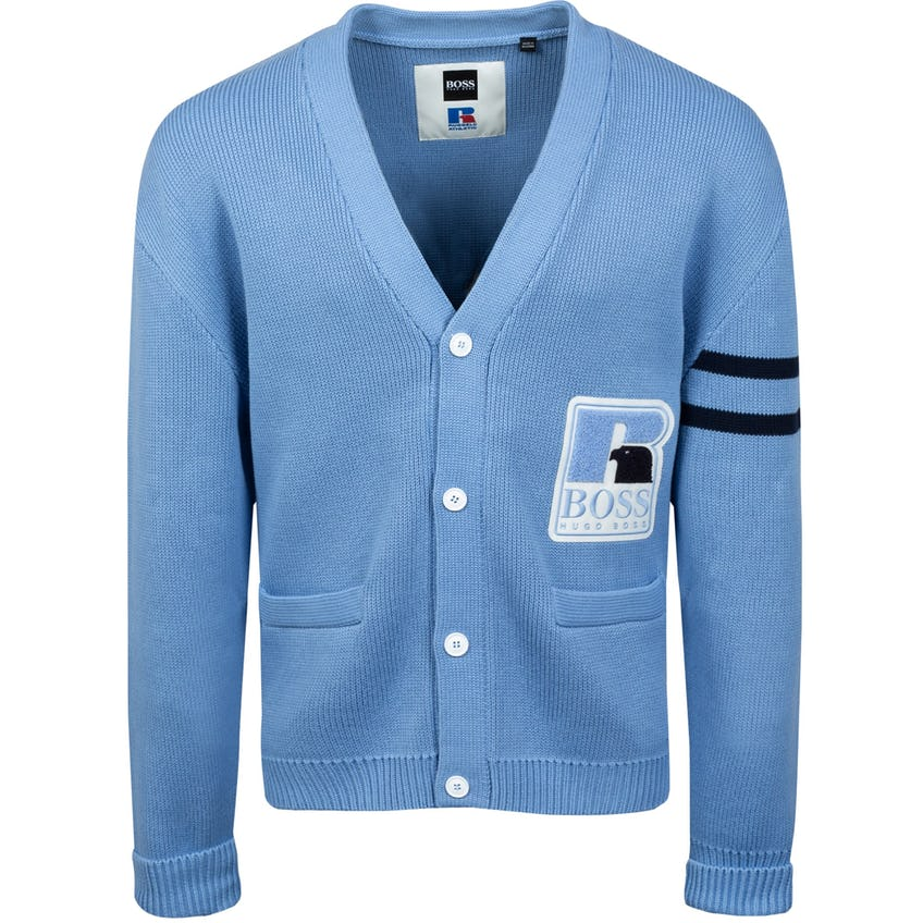 x Russell Athletic Krussel Cardigan Open Blue