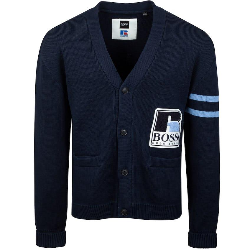 x Russell Athletic Krussel Cardigan Dark Blue