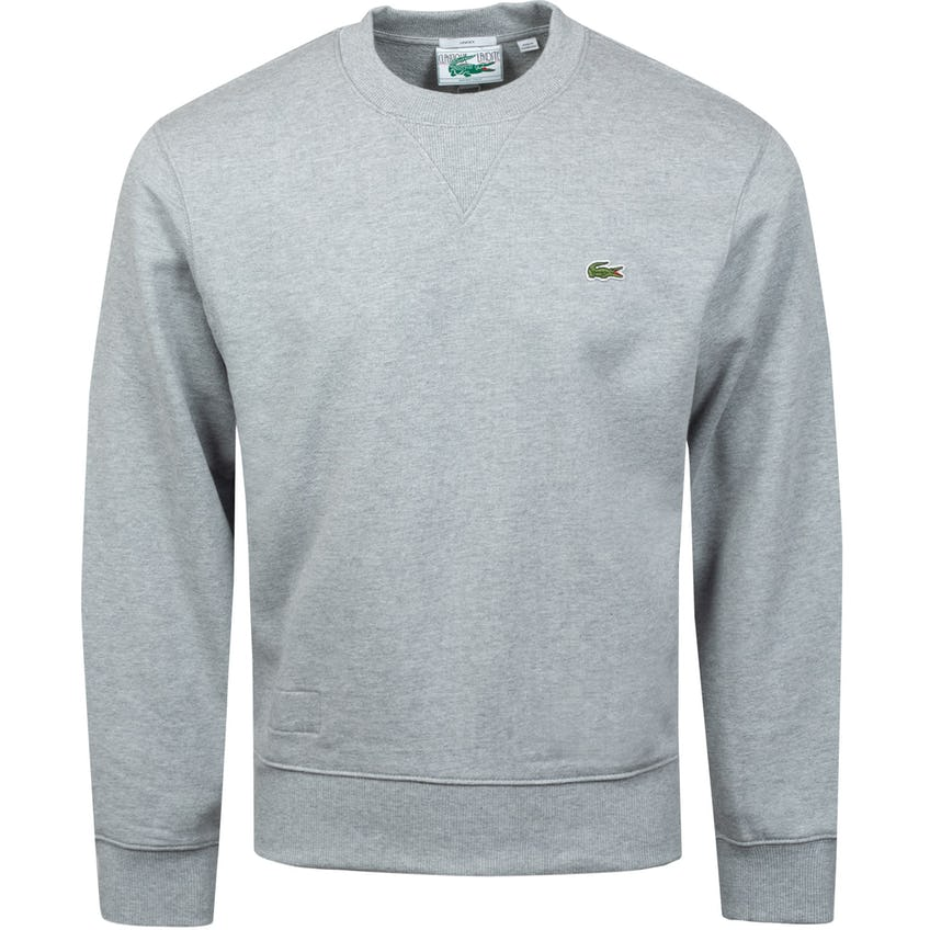 Crew Neck Organic Cotton Sweatshirt Grey Chine 0