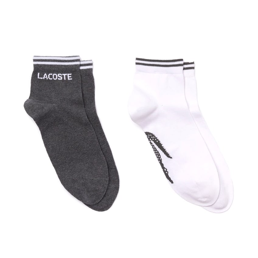 Two-Pack Of Lacoste SPORT Cotton Socks Grey chine 0