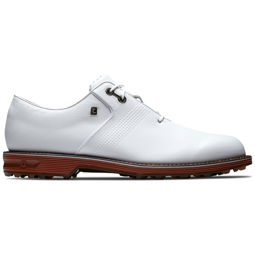 Premiere Southern Style Flint Spiked (WIDE) Golf Shoes White/Brown/Red 0