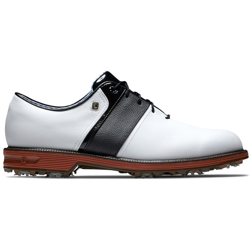 Premiere Southern Style Packard Spiked (WIDE) Golf Shoes White/Black/Red 0