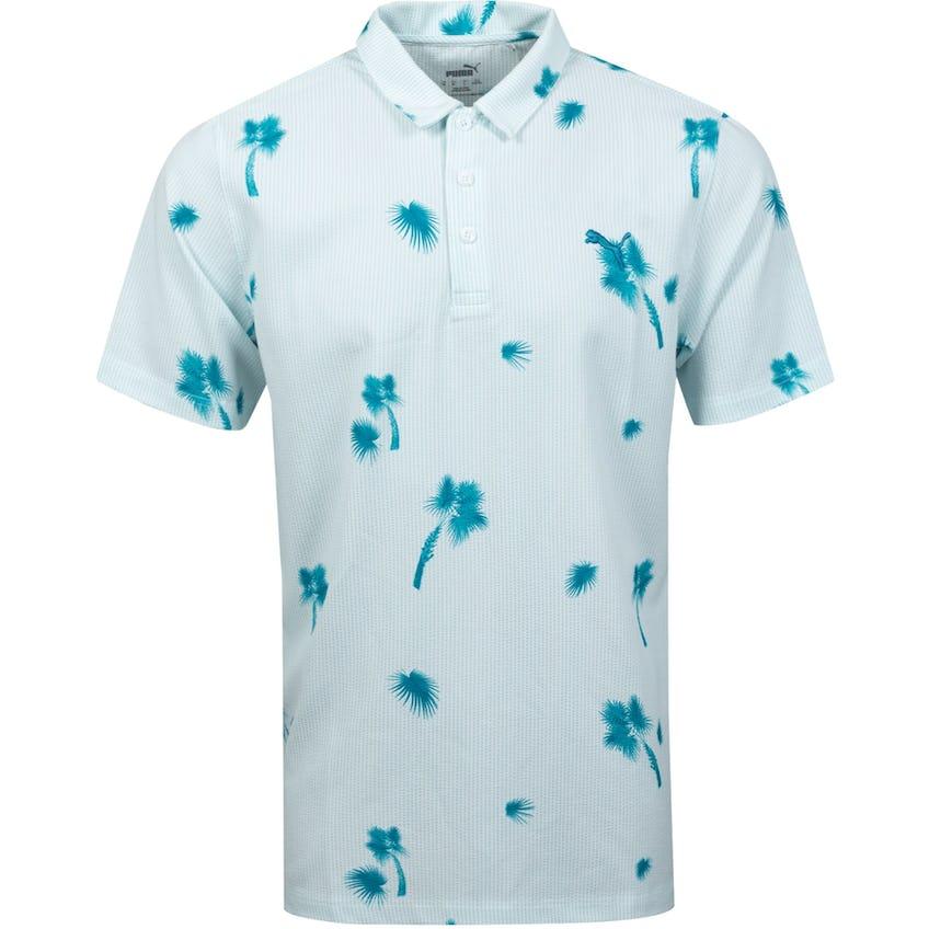 Palmetto Seersucker Polo Shirt Ocean Depths 0