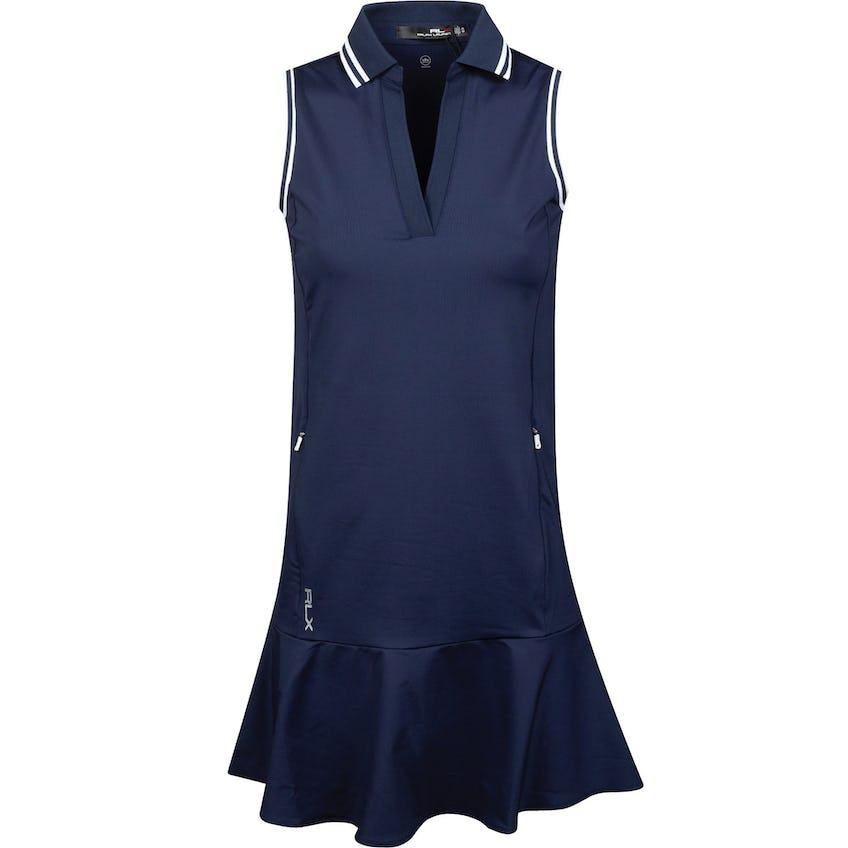 Womens V Neck Dress French Navy 0