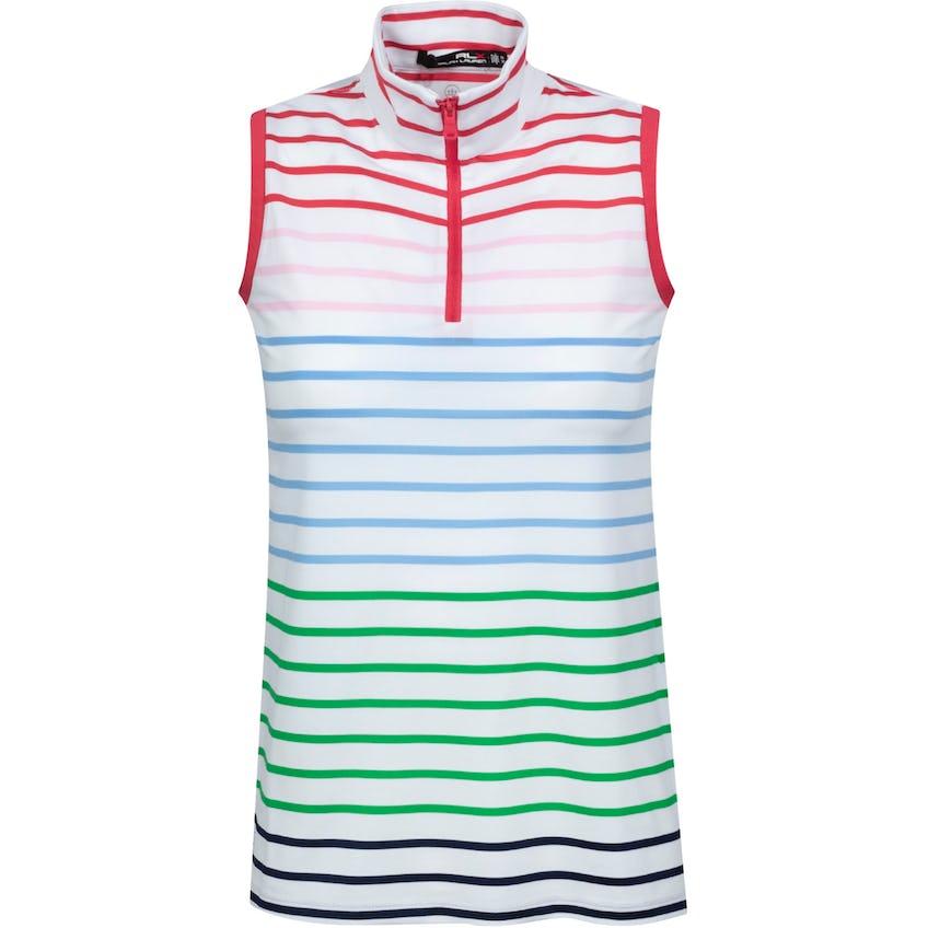 Womens Printed Sleeveless Polo Shirt Rainbow Stripe 0