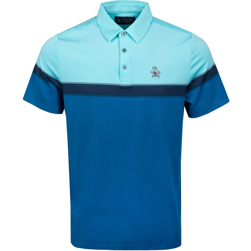 Chest Pump Polo Shirt Tanager Turquoise 0