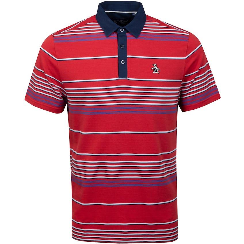 Fine Line Stripe Polo Shirt Winery 0