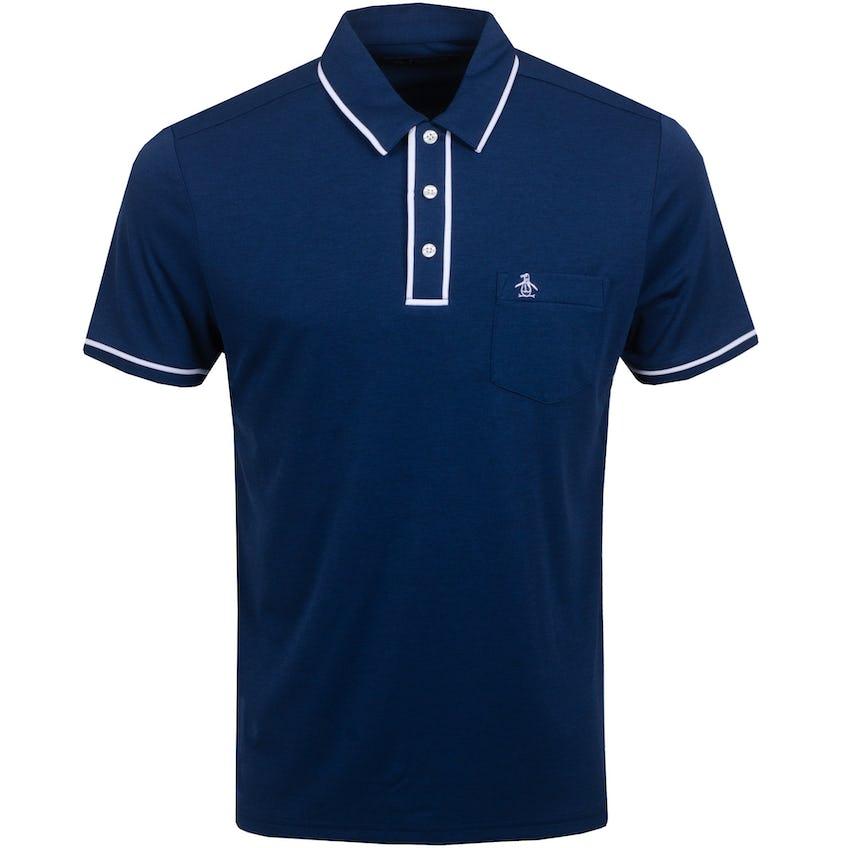 The Golfer Earl Polo Shirt Black Iris 0