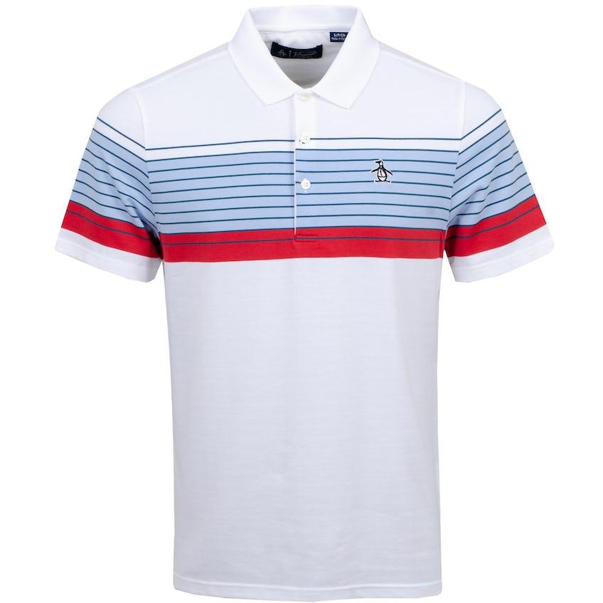 Chest Block Polo Shirt Bright White 0