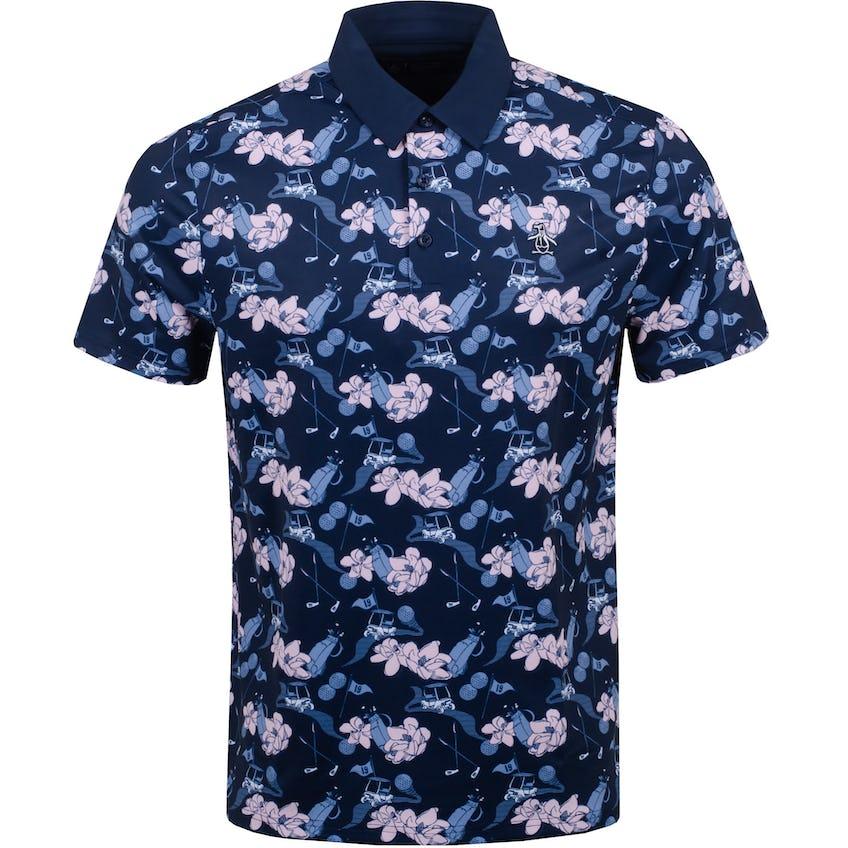 Floral Conversational Polo Shirt Black Iris 0