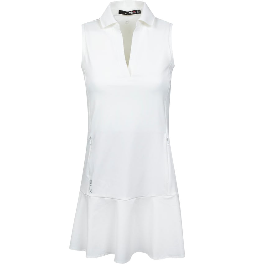 Womens V Neck Dress Pure White 0