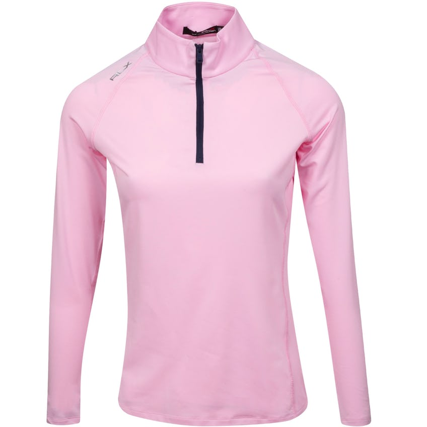 Womens UV Quarter Zip Carmel Pink/French Navy 0
