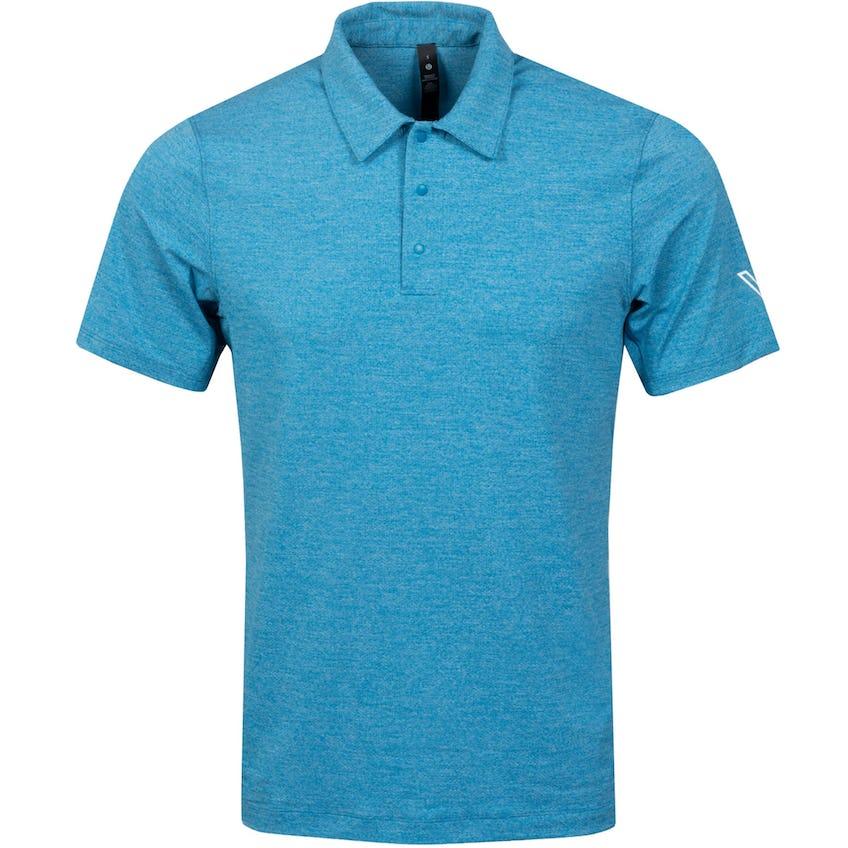 x TRENDYGOLF Snap Front Polo Shirt Heathered Hawaiian Blue - SS21 0