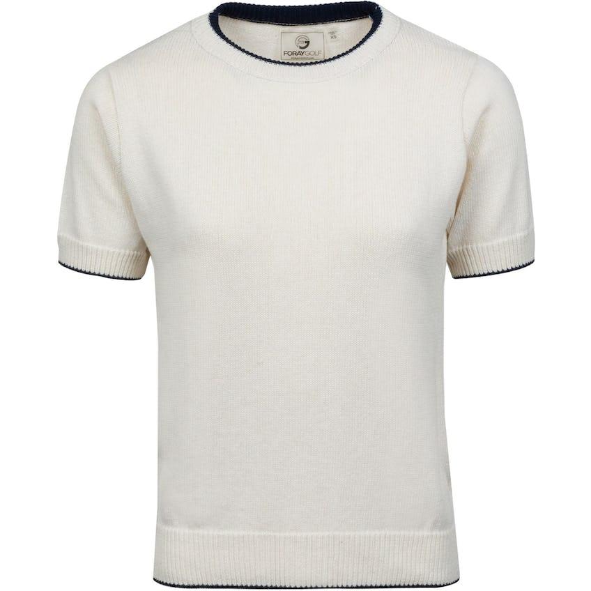 Womens High Society 2.0 Short Sleeve Sweater White 0