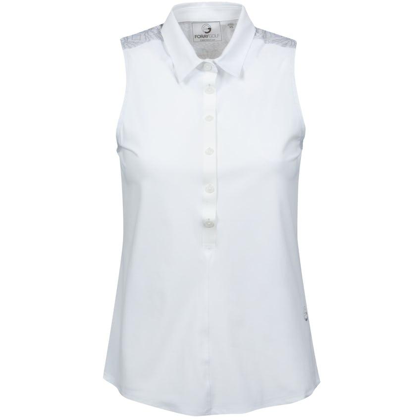 Womens Core 3.0 Printed Back Sleeveless Polo White/Lace Print 0