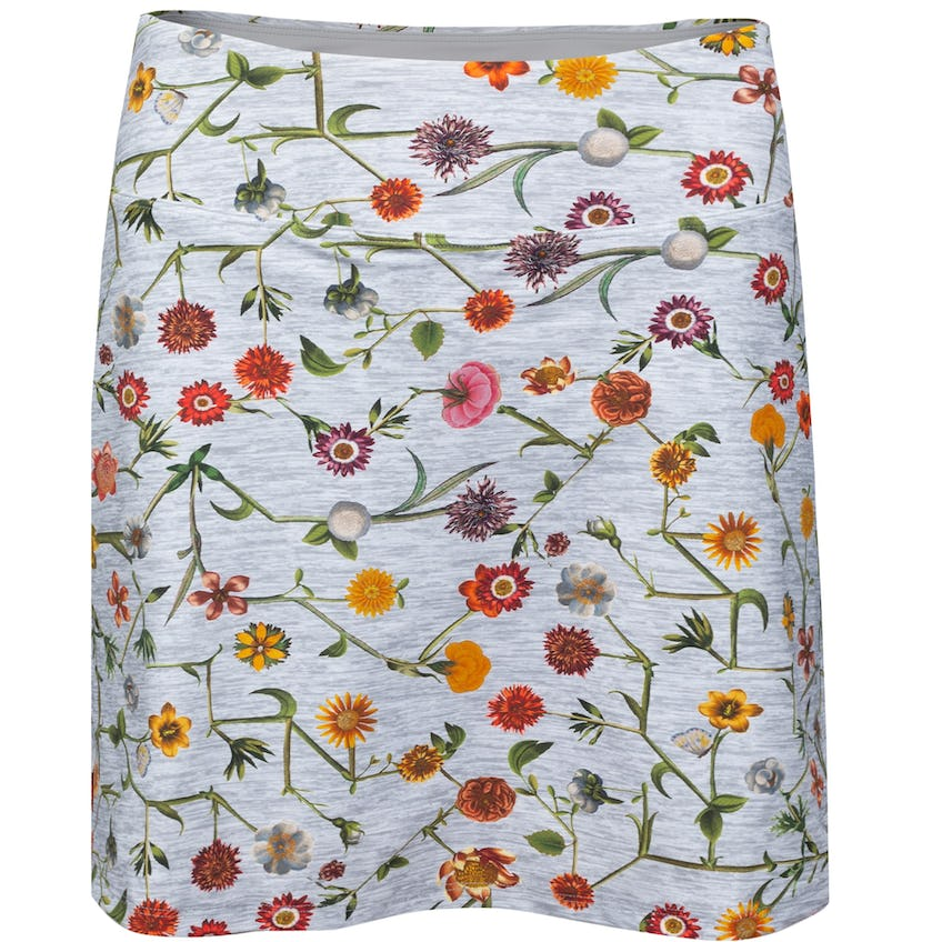 Womens Connect Floral Skirt Marl Grey 0