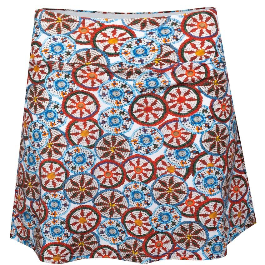 Womens Folk Festival Skirt Bead Print Multi 0