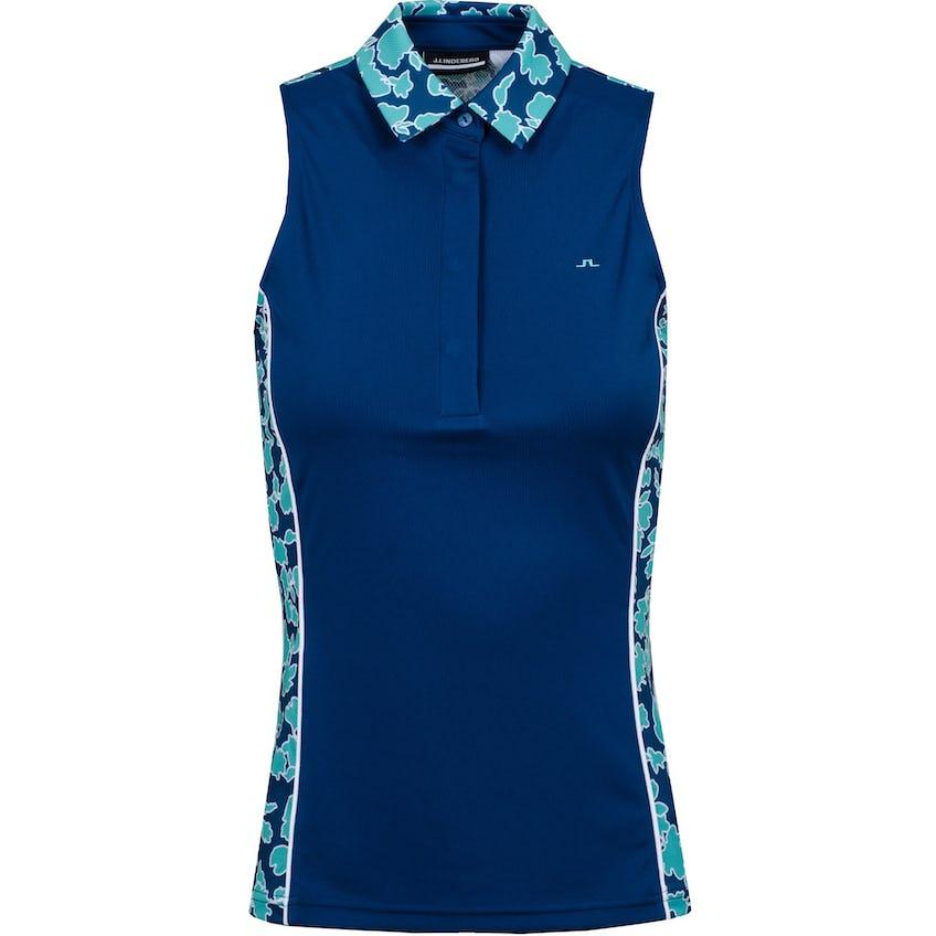 Womens Dena Mesh Polo Shirt Poseidon Floral 0