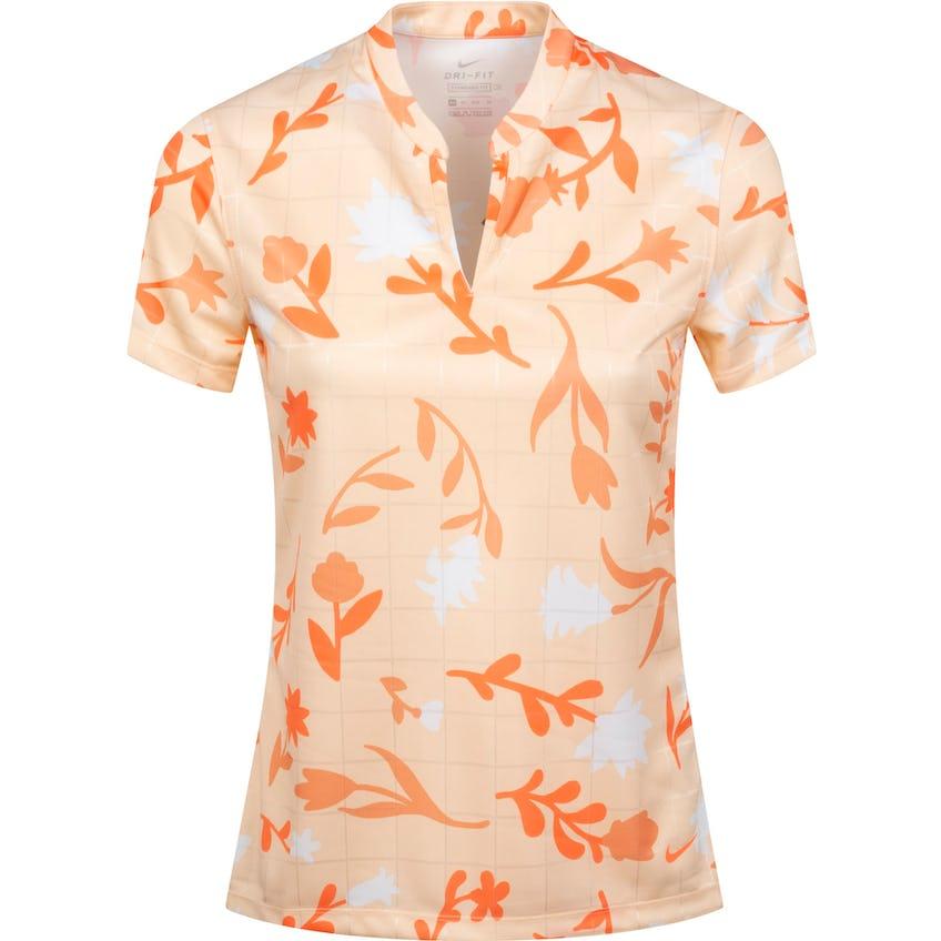 Womens Breathe Printed Polo Shirt Crimson Tint/Bright Mango 0