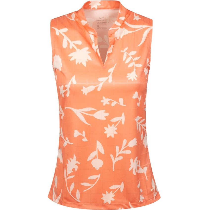 Womens Breathe Sleeveless Printed Polo Shirt Crimson Bliss/Crimson Tint 0