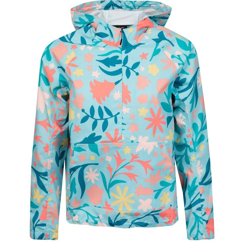 Womens Repel Printed Anorak Jacket Light Dew/Bright Mango/Blustery 0