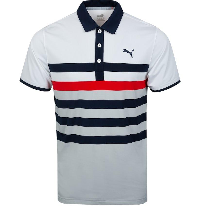 MATTR One Way Polo Shirt Navy Blazer/High Risk Red - SS21 0