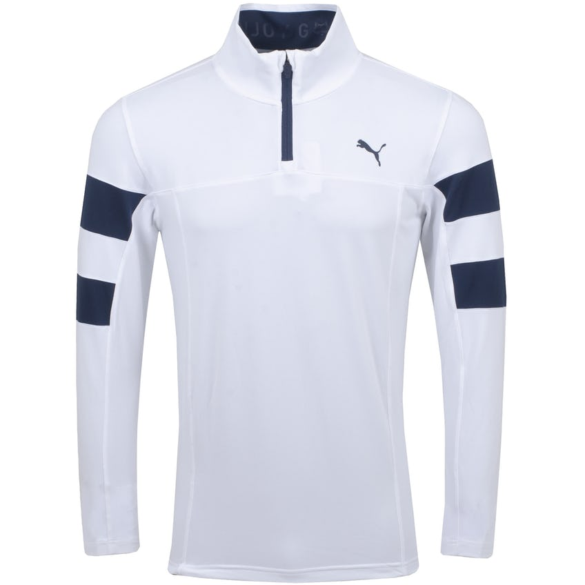 Torreyana Quarter Zip Bright White/Navy Blazer - SS21 0