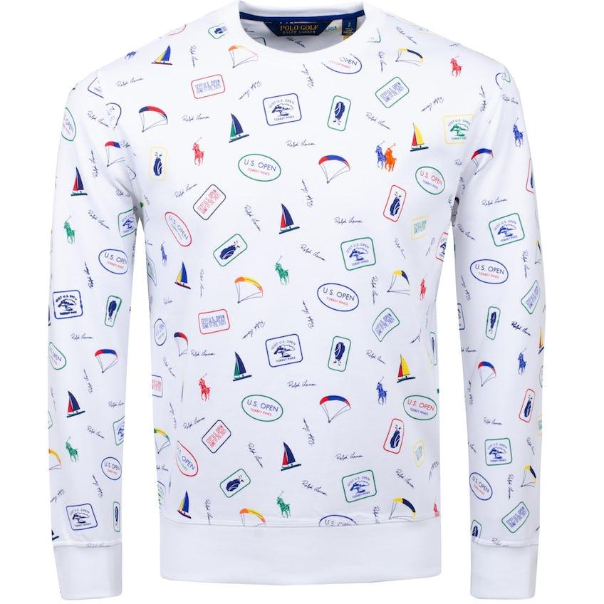 U.S. Open All-Over Printed Crewneck Sweatshirt Pure White 0