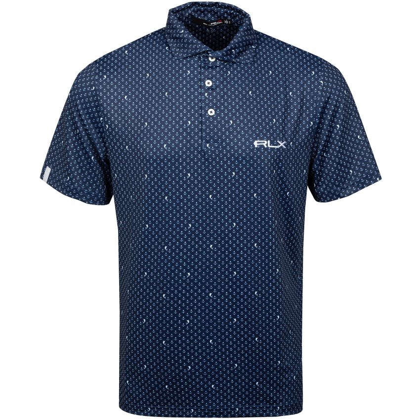 Printed Lightweight Airflow Polo Anchor Down 0