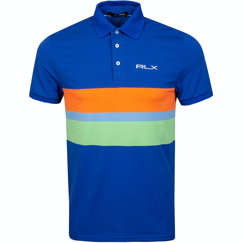 Pro Fit Engineered Stripe Polo Bright Royal Multi 0