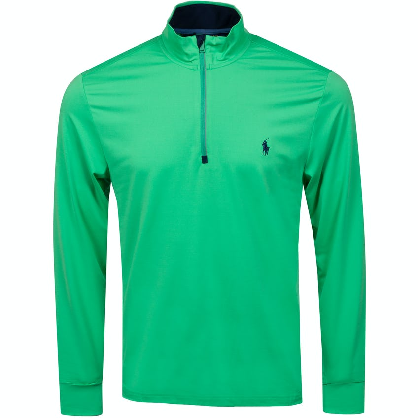 Half Zip Peached Jersey Course Green 0