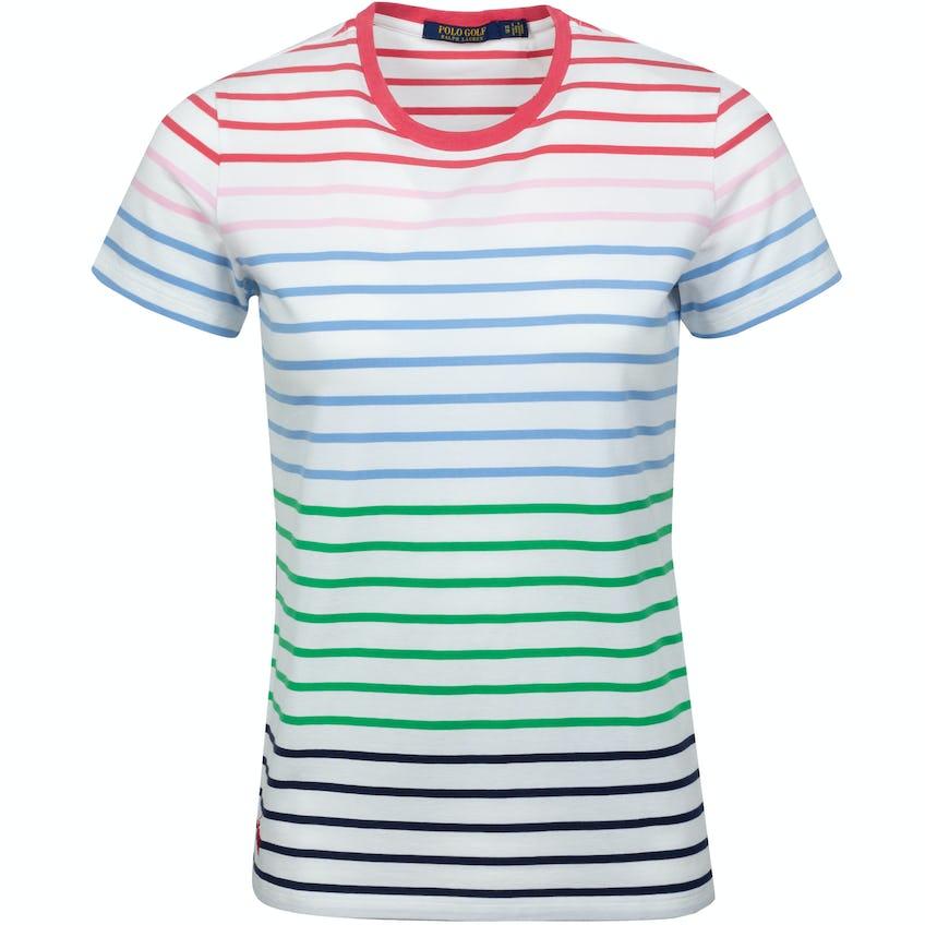 Womens Stripe T-Shirt Sunset Red Multi 0