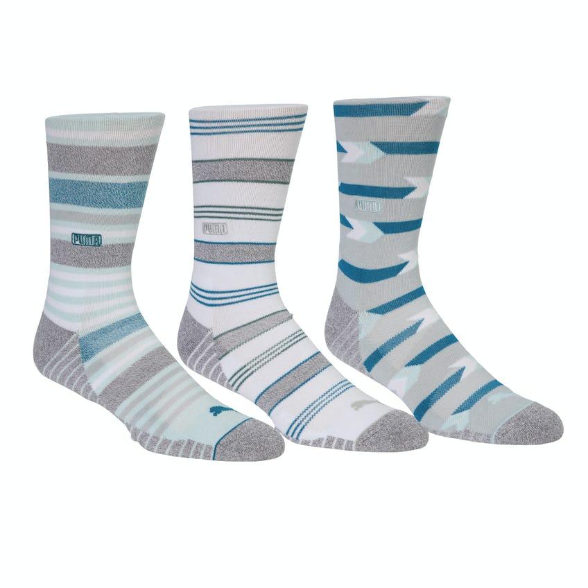 Fusion Stripe Crew Sock 3 Pack Multi 0