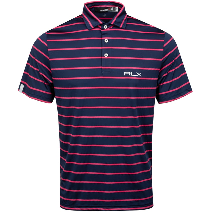 Featherweight Airflow Polo French Navy/Sunset Red 0
