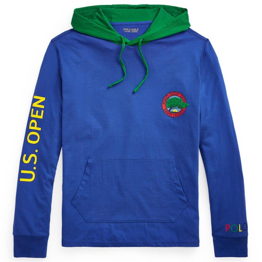 U.S. Open Hooded Long Sleeve T-Shirt Bright Royal 0