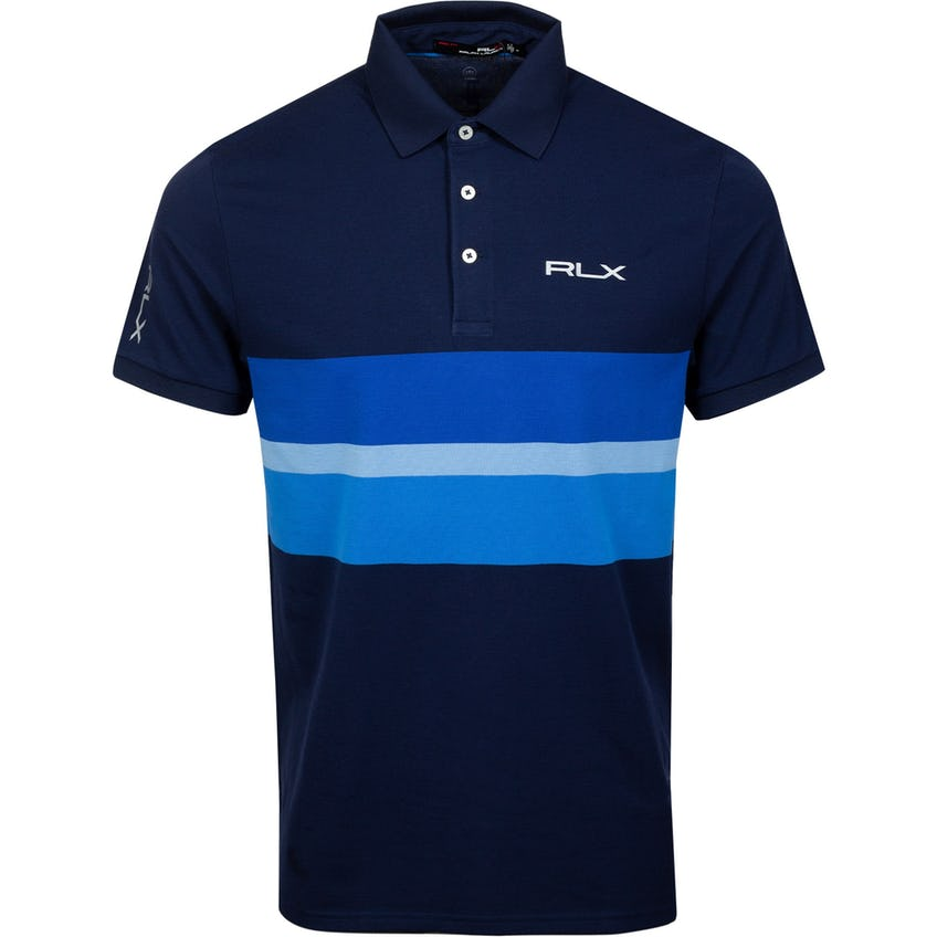 Pro Fit Engineered Stripe Polo French Navy Multi 0