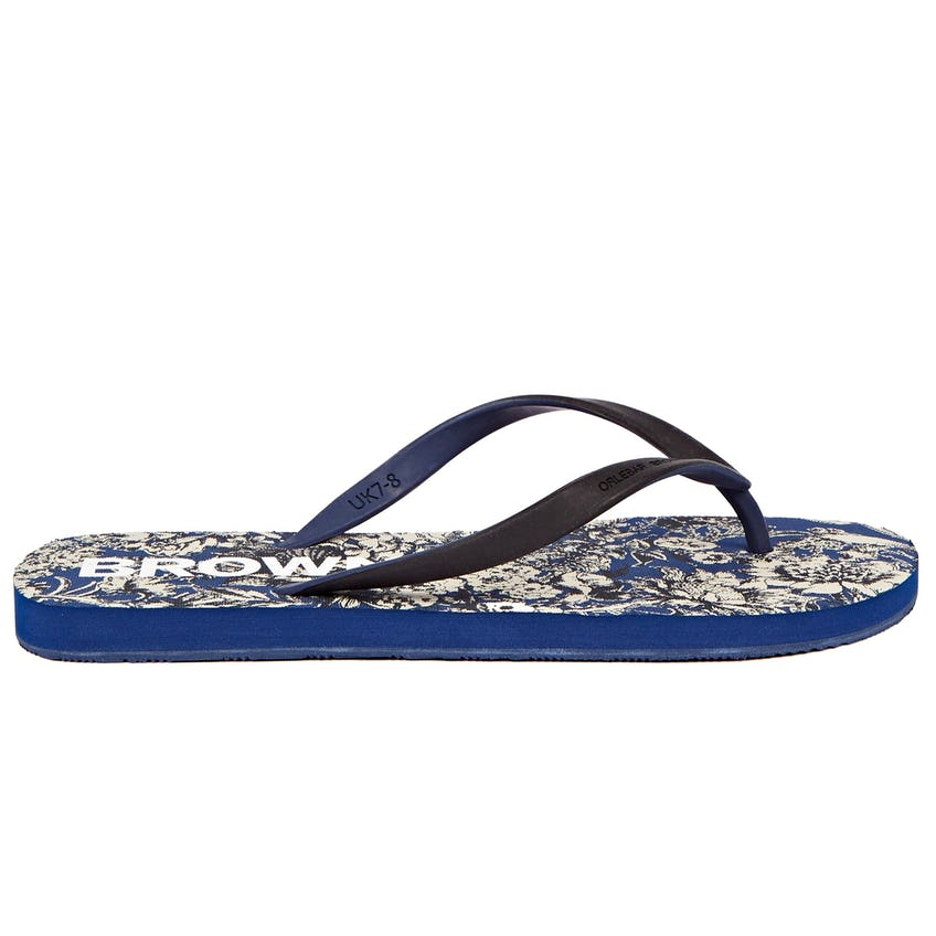 Haston Rubber Flip Flop Full Bloom/Black Iris/Blue Wash 0