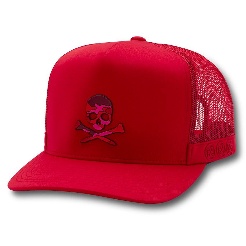 Camo Skull Trucker Cherry 0