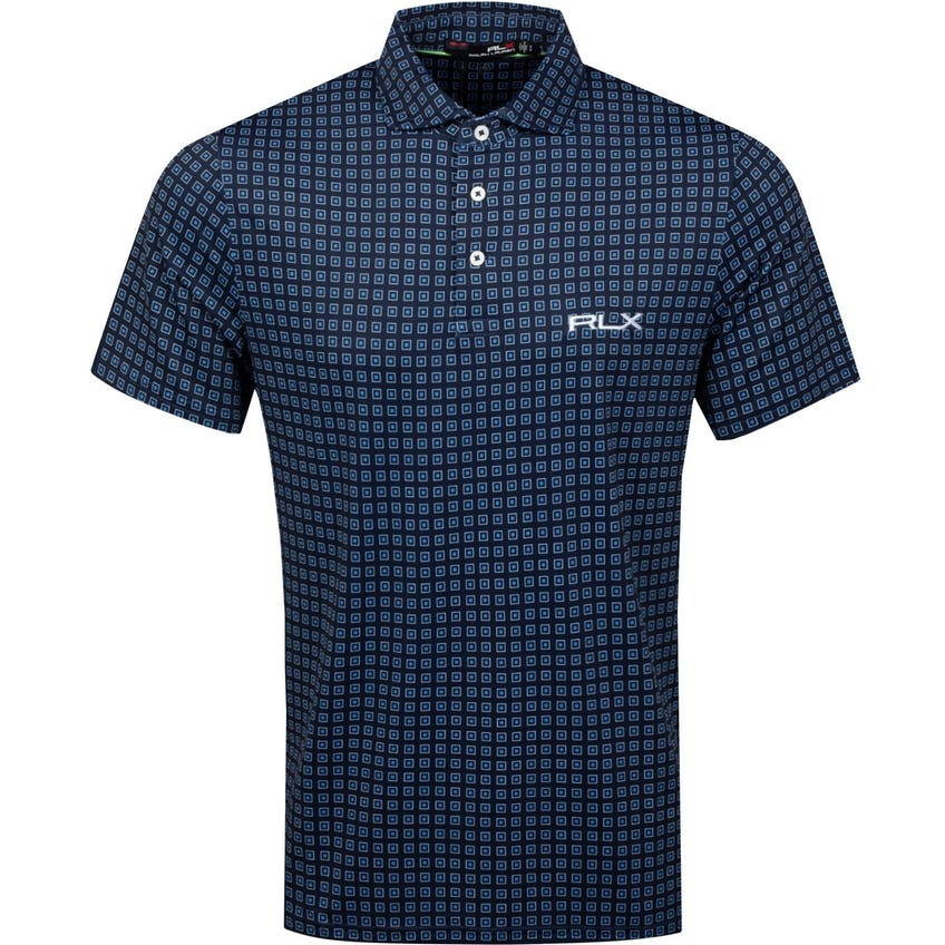 Printed Lightweight Airflow Polo Shirt French Navy Course Deco 0