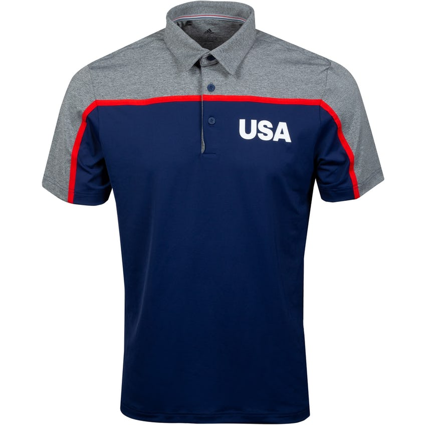 USA Olympic Golf Polo Dark Blue/Grey Four 0
