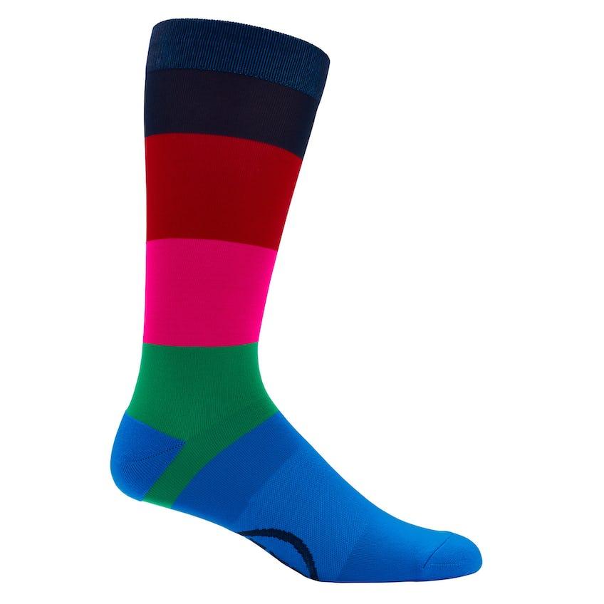 Wide Stripe Crew Sock Clover 0