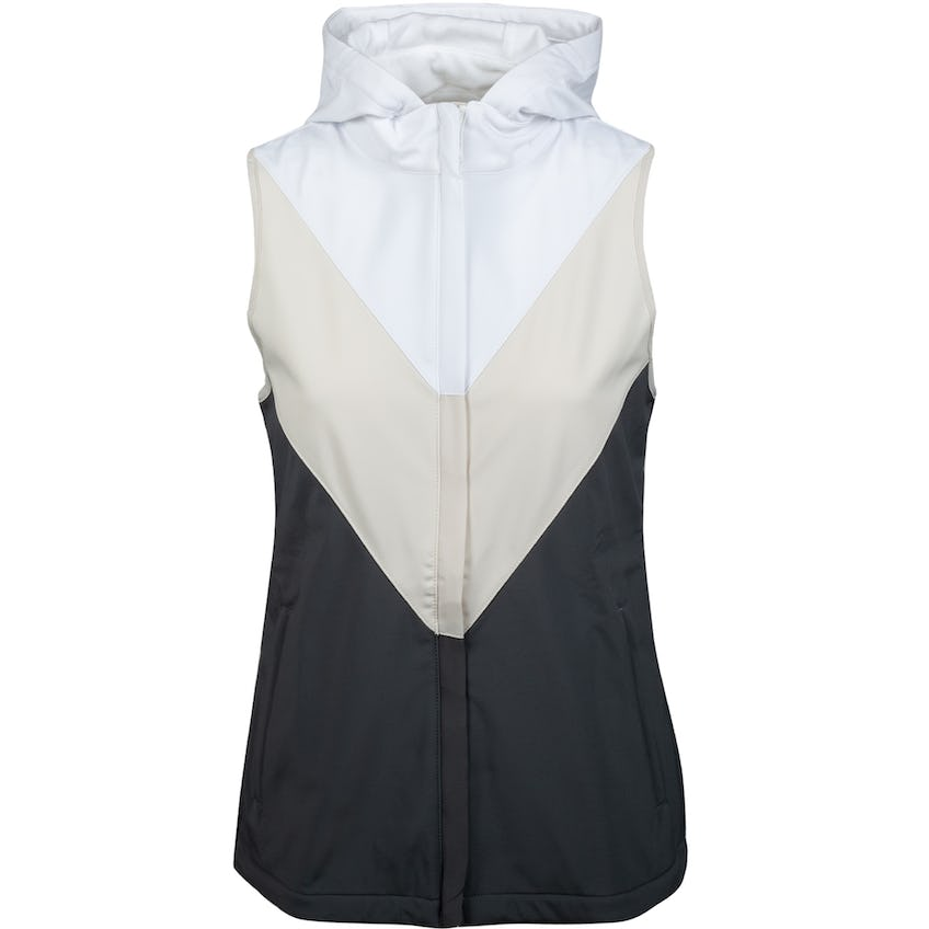 Womens Colour Block Hooded Vest Charcoal 0