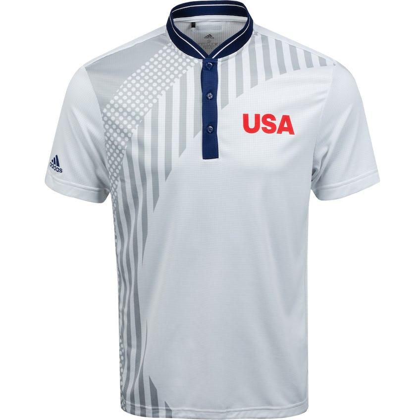 USA Olympic Golf Polo White/Grey Two 0