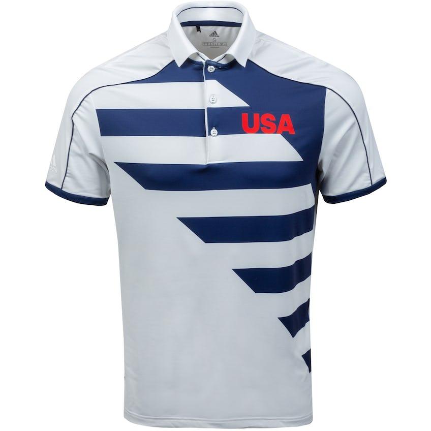 USA Olympic Golf Polo White/Dark Blue 0