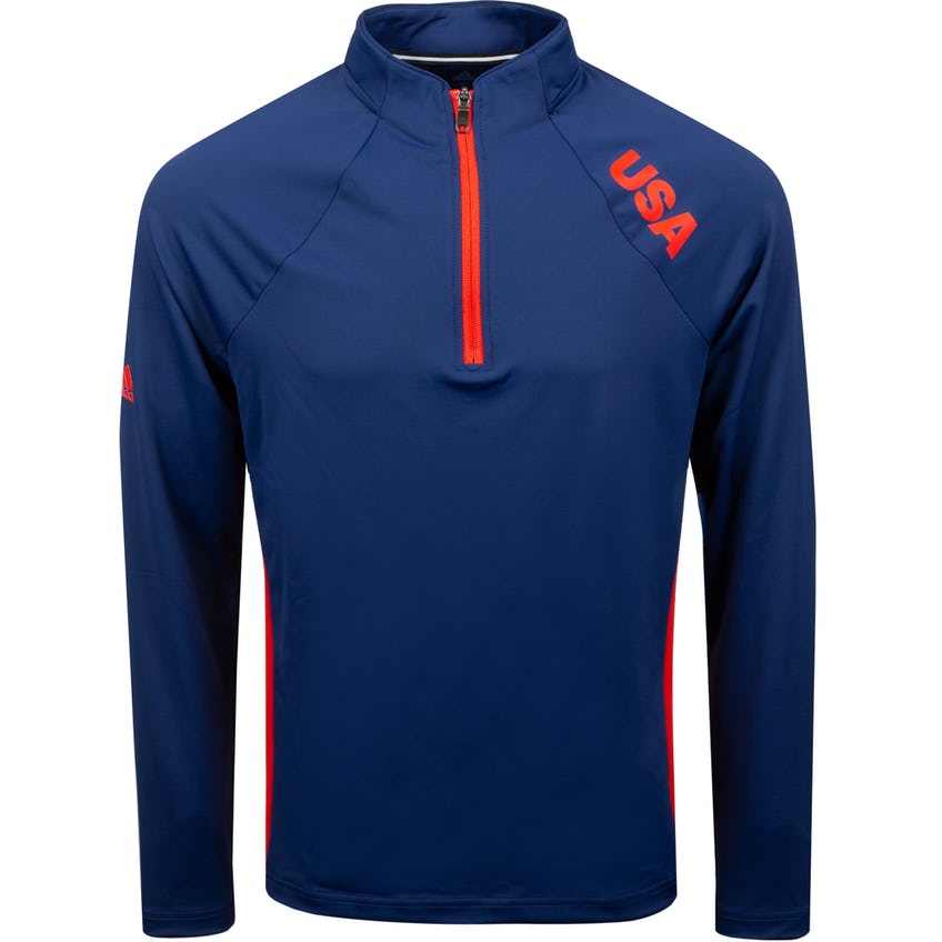 USA Olympic Mid Weight layering Top Dark Blue/RED 0