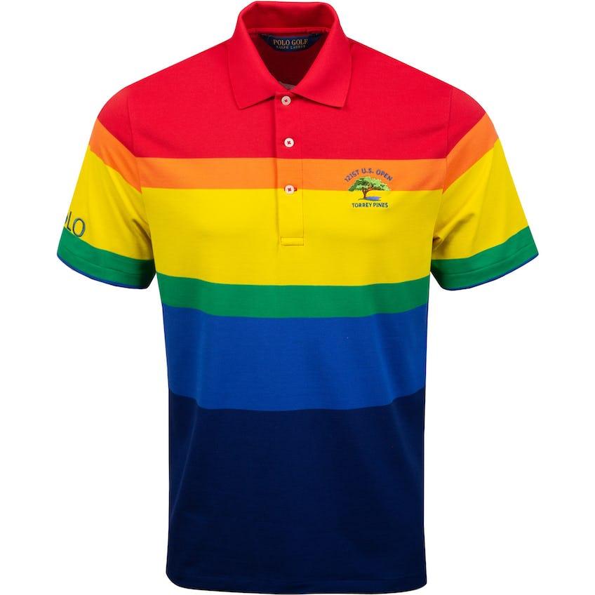 U.S. Open Performance Pique Rainbow Striped Polo Multi 0