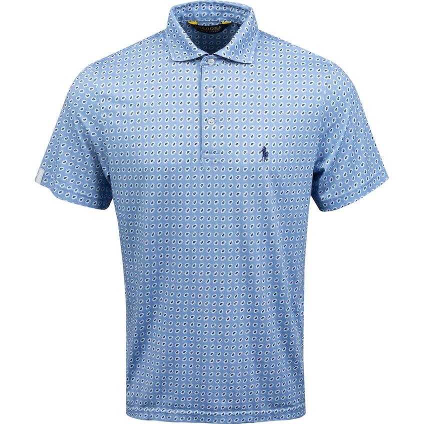 Printed Pima Jersey Polo Fall Blue Vineyard Foulard 0