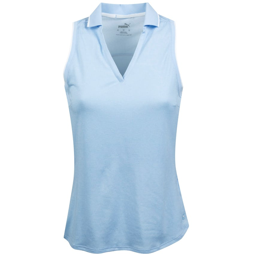 Womens MATTR Sprinter Sleeveless Polo Placid Blue Heather 0